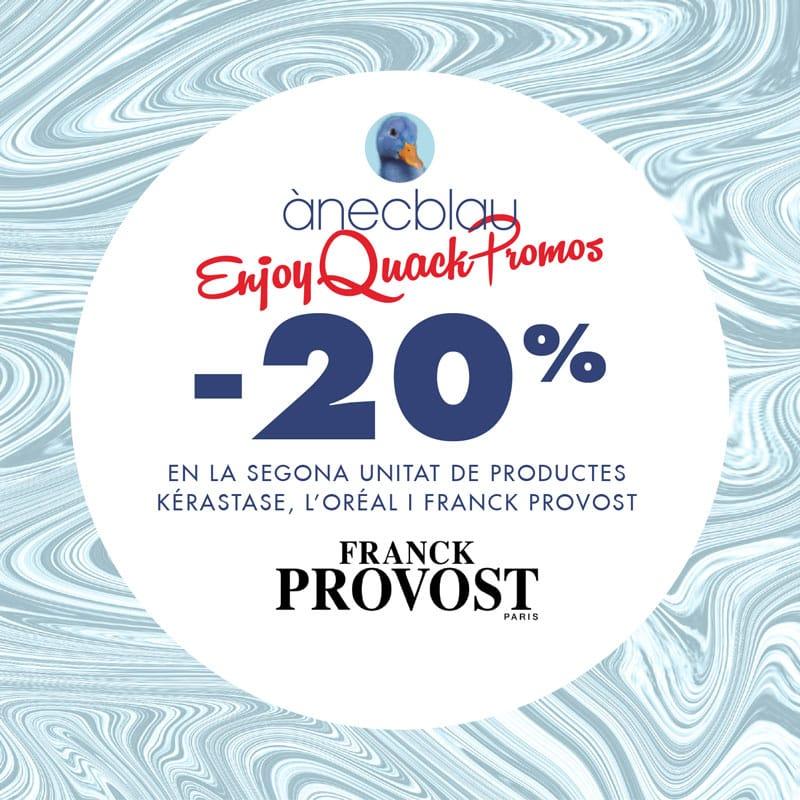 20% de descuento en la 2ª unidad en Franck Provost