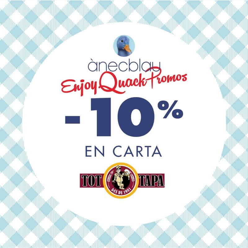 10% de descuento en Tot Tapa