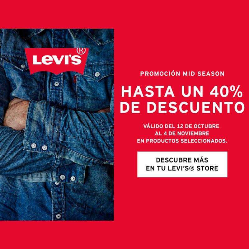 Hasta 40% en productos seleccionados Levis