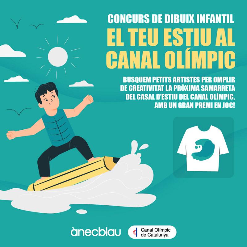 """Concurs de dibuix infantil """"El teu estiu al Canal Olímpic"""""""