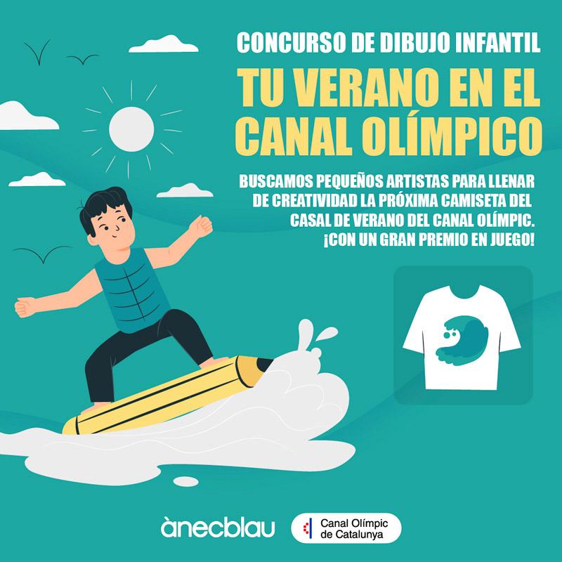 """Concurso de dibujo infantil """"Tu verano en el Canal Olímpico"""""""