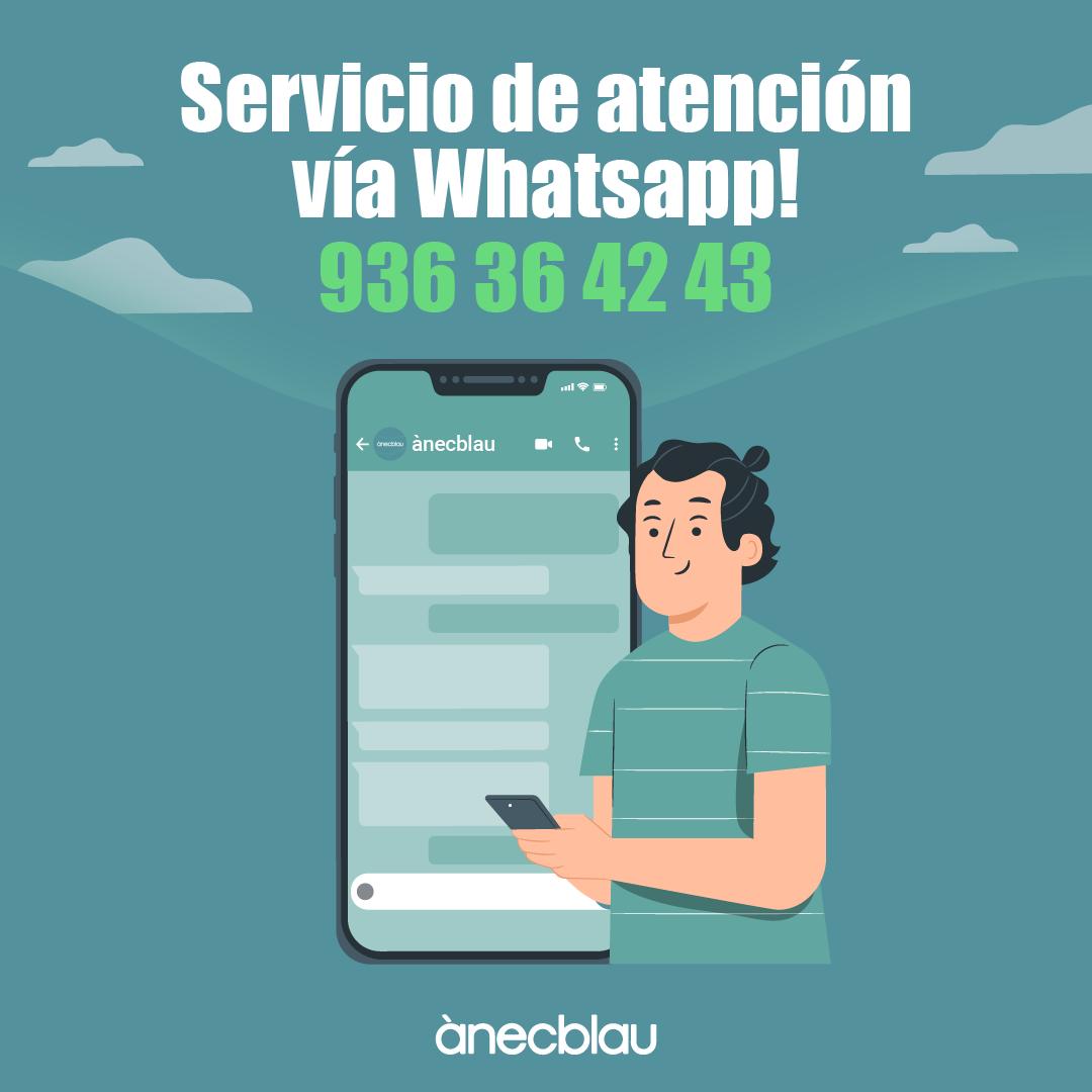 ¡Nuevo servició de atención vía Whatsapp!