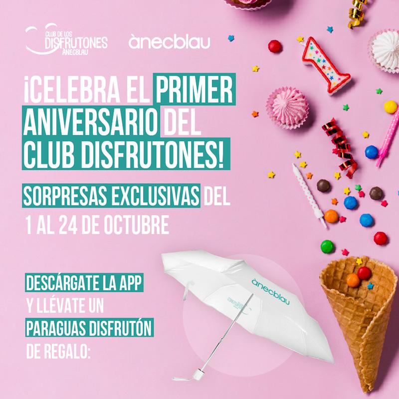 Celebrem el primer aniversari del Club Disfrutones!